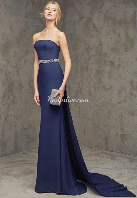 abiye elbise modelleri gece elbiseleri en gzel abiyeler pronovias gece mavisi şık abiye elbise modelleri 2016 17