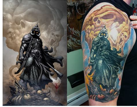 frazetta s death dealer tattoo by ryanf54 on deviantart