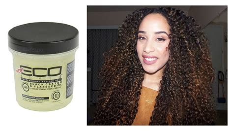 what product makes african american hair curly review new eco styler black castor flaxseed oil gel on