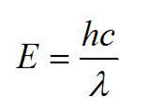 Light Energy Equation Formulae And Data