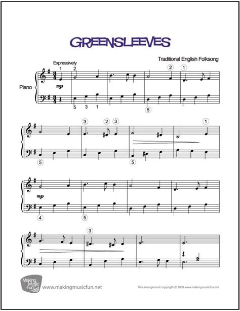 tutorial piano greensleeves greensleeves sheet music for piano digital print http