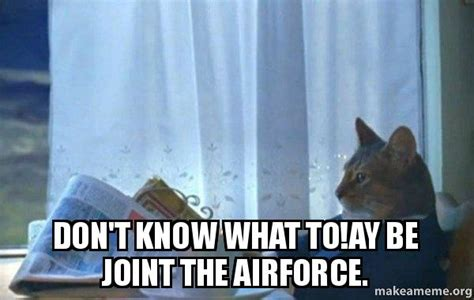 Sophisticated Cat Meme Generator - don t know what to ay be joint the airforce