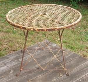 vintage antique wrought iron patio garden furniture cast