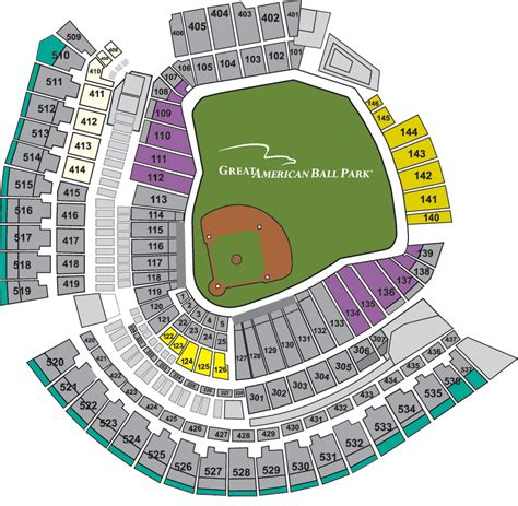 cincinnati reds seating chart with seat numbers reds gift pack reds ticketing