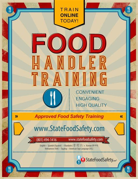 Food Safety Training Promotional Flyer Safety Flyer Template