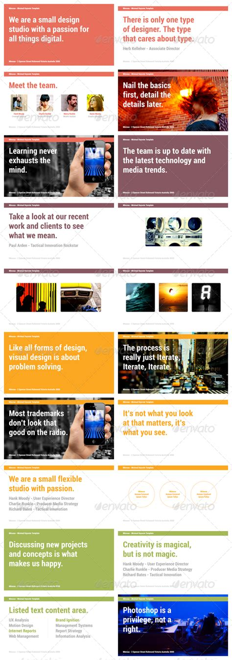 presentation template graphicriver mimosa keynote