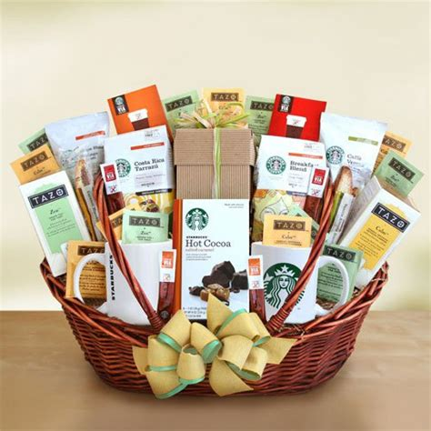 starbucks office party centerpiece gift basket gift