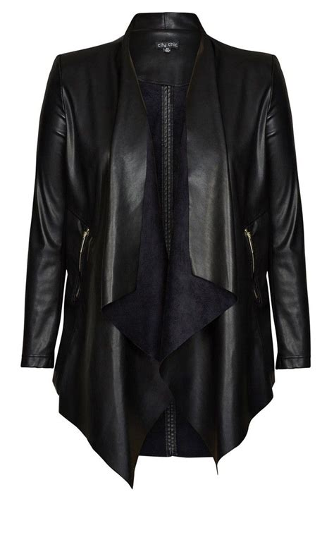 Found A City Chic Leather Coat by Best 25 Plus Size Leather Jacket Ideas On