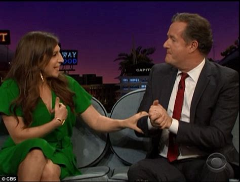 the piers show mayim bialik flashes piers on the late late show to