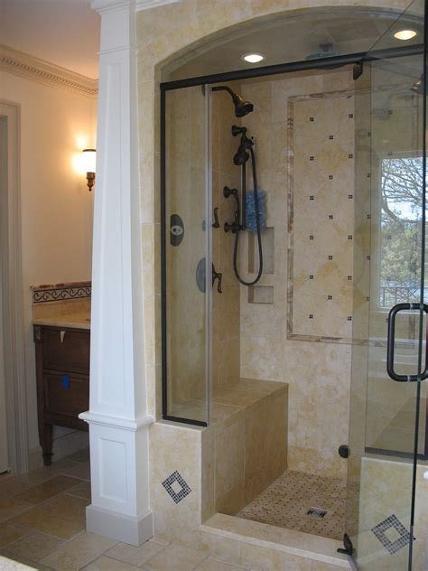 Standing Shower Door Walk In Shower Doors Swing Door Single Handle Entry Stand Up Shower And Bronze Shower