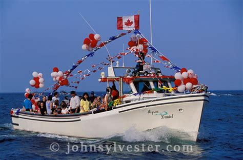 canadian boat flags prince edward island stock photos and pictures john
