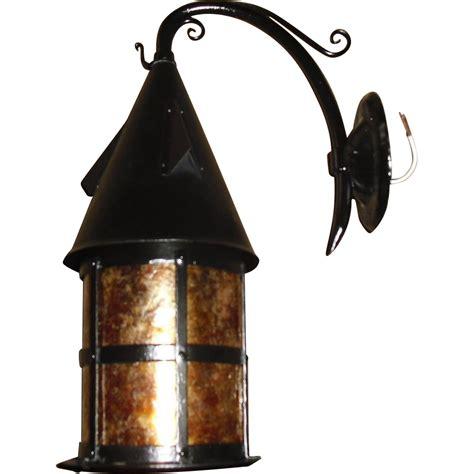 Tudor Lighting Fixtures Tudor Iron With Mica Porch Light Fixture From Sherlocksantiquelights On Ruby