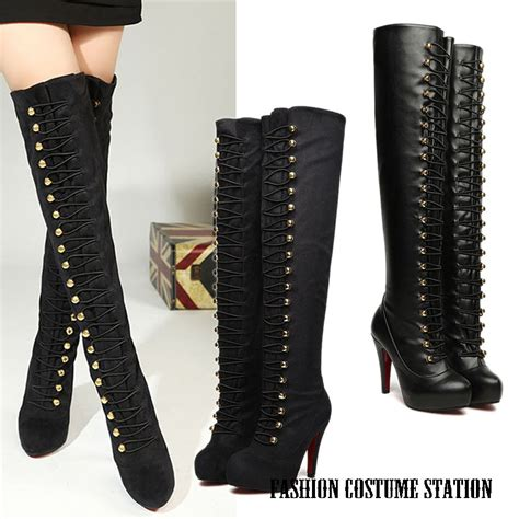 get cheap knee high boots wide calf aliexpress