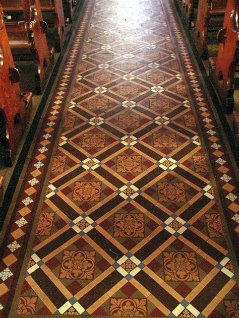 pattern tiles ireland nave aisle st sennens county clare ireland the