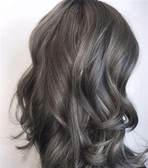brown hair turning grey grey brown hair pinteres
