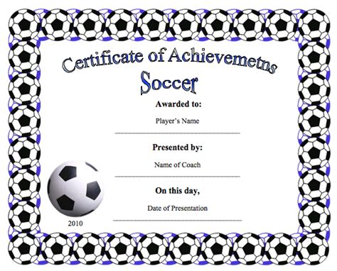 soccer certificate template custom card template 187 number card templates free card