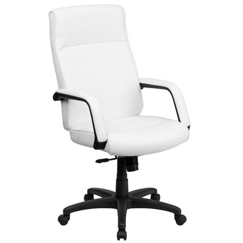 memory foam desk chair flash furniture high back white leather executive swivel