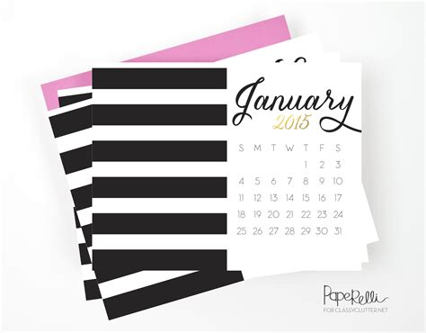 printable calendar 2015 black and white printable 2015 calendar