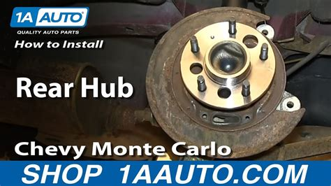 replace wheel bearing hub   chevy monte carlo