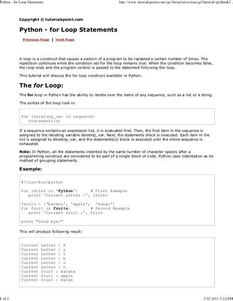 tutorialspoint for python python tutorial