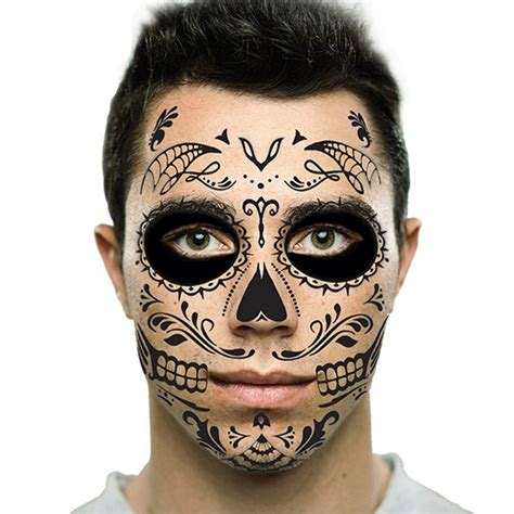 sugar skull temporary tattoo day of the dead sugar skull