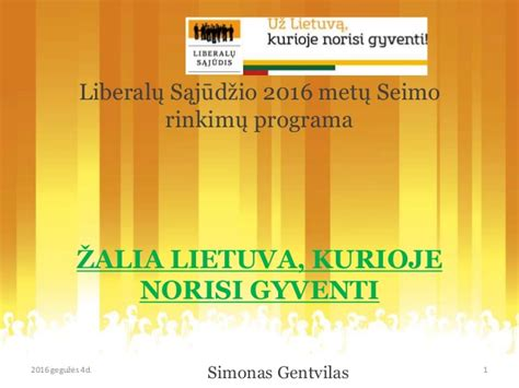 programa designmantic lrls darnaus vystymosi ministerijos programos akcentai