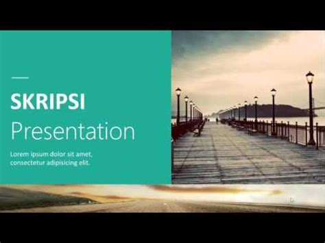 download skripsi format word skripsi presentation powerpoint template youtube