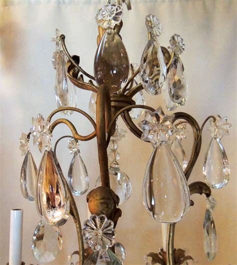 A Superb French Bagues Style Gilt And Crystal Bird Cage Bird Chandeliers