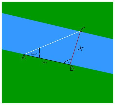wann benutze ich sinus cosinus und tangens sinus kosinus tangens breite des flusses berechnen