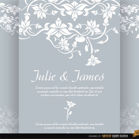 Wedding Invitation Letter Vector Floral Wedding Invitation Vector Freevectors Net