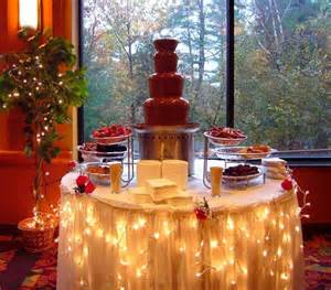 chocolate fountain ideas for weddings bringing back