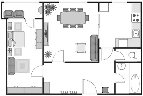 drawing apartment floor plans basic floor plans solution conceptdraw com