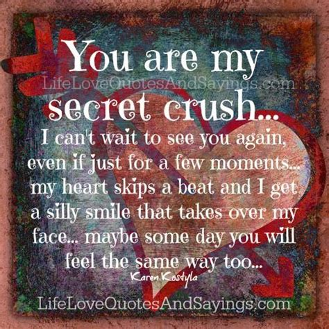 my secret quotes you are my secret crush i can t wait to see you again