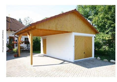 Carport Mit Satteldach by Einzelgarage Mit Satteldach Und Carport Einzelgaragen