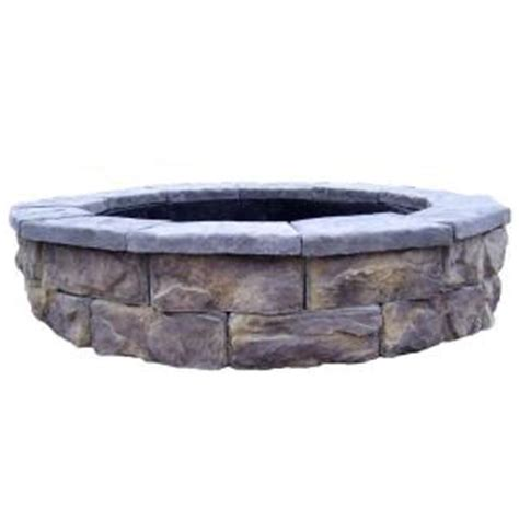 home depot firepit fossill limestone pit kit fsfpl the