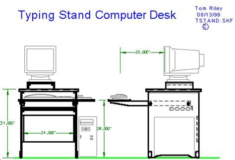 computer desk blueprint how to build computer desk blueprints pdf plans