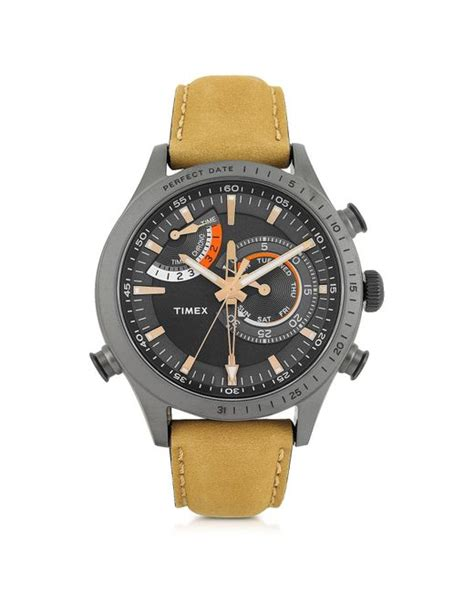 Gucci Chrono Detik Leather Grey timex chrono timer gray stainless steel and leather s in gray for