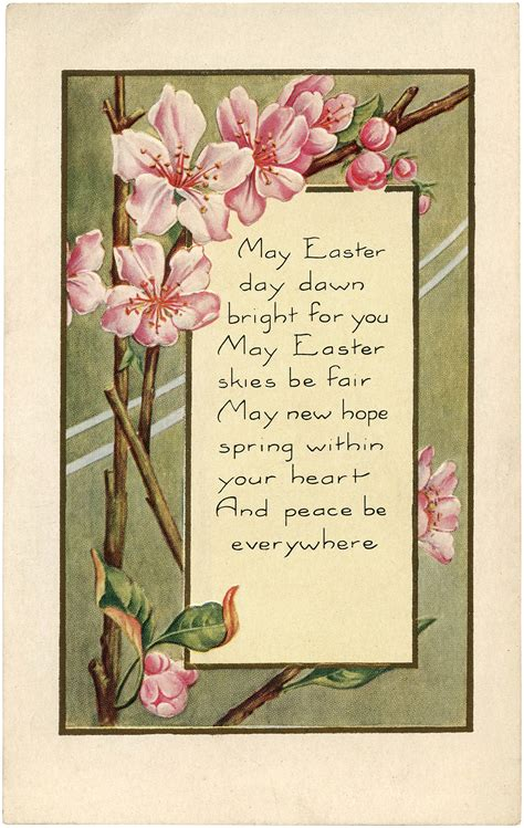 pretty easter blossoms image  graphics fairy