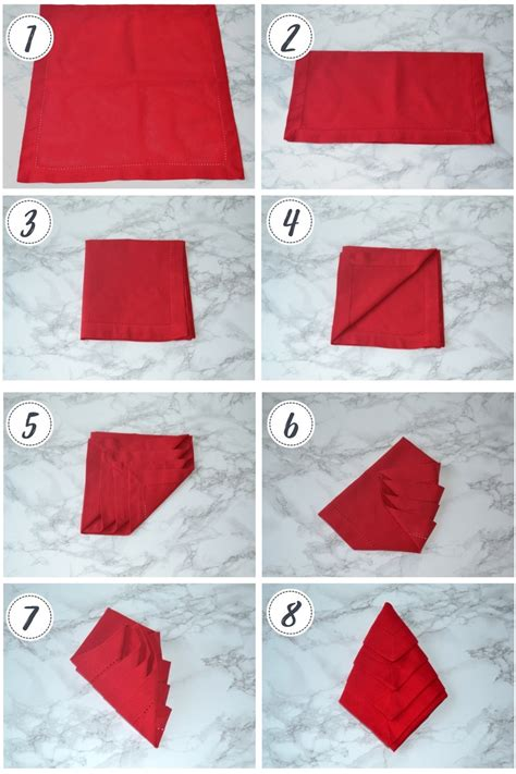 how to fold table napkins napkin folding 3 ideas for your table