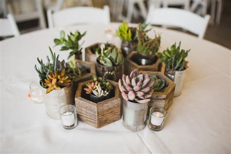 diy centerpieces diy succulent centerpieces in recycled planters