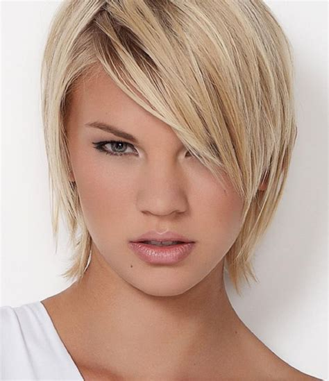 hairstyles to thin the face short hairstyles for thin hair round face instead make