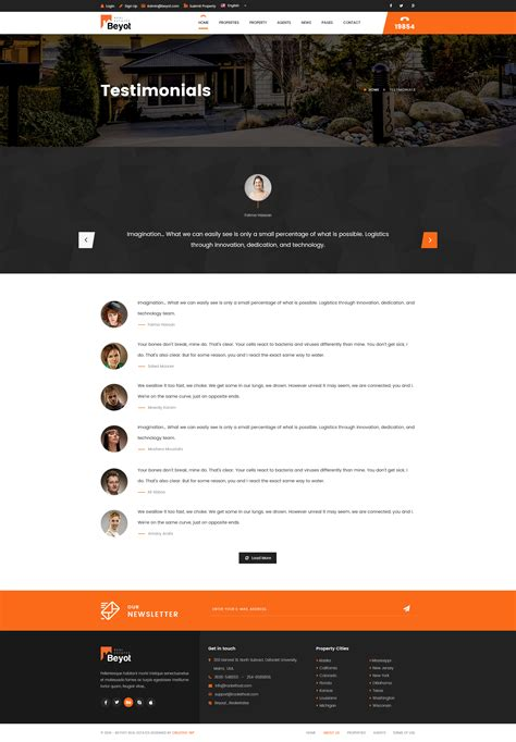 Themeforest Beyot | beyot real estate psd template by creative wp themeforest