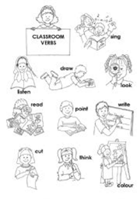 coloring page action words english teaching worksheets actions
