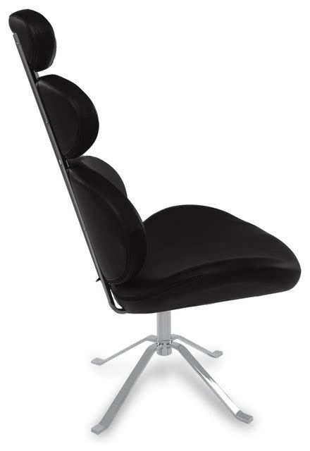 Swivel Occasional Chairs Pebble Modern Swivel Occasional Chair Black