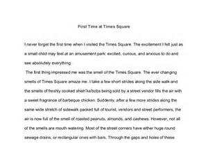 New York Descriptive Essay by Time At Times Square Gcse Marked By Teachers