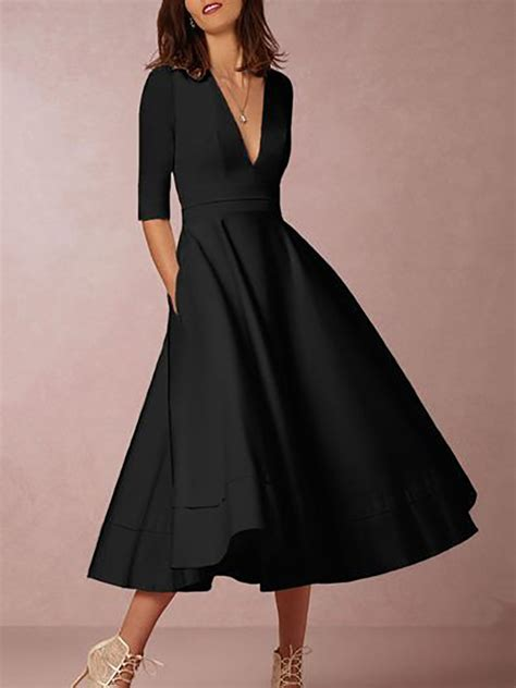 new style pleated v neck high waist maxi dress