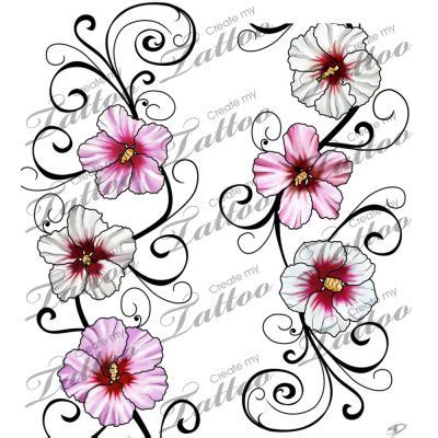 rose of sharon tattoo of designs ideas