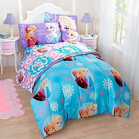 disney 174 frozen reversible comforter set bed bath beyond