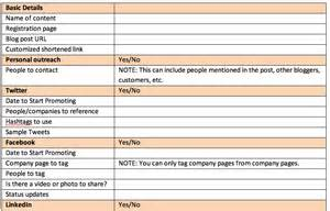 Distribution Strategy Template by Web Content Marketing Template