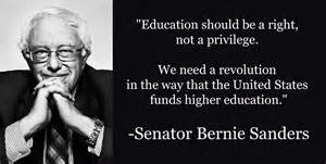 New York Free Tuition better world quotes bernie sanders on college education